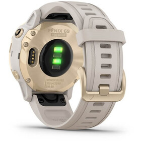Garmin Fenix 6S Pro Solar GPS Smartwatch beige/white gold